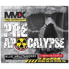 MuscleMaxx, PRE APOCALYPSE, Pre-Workout, Arginine + Taurine + Creatine + Beta-Alanine, Blue Wraithberry, 3 Serving Sample (0.68 oz) (19.2 g)