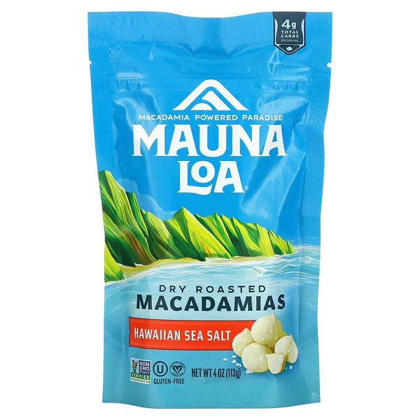 Dry Roasted Macadamias, Hawaiian Sea Salt, 4 oz (113 g)