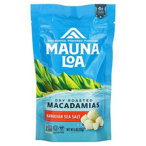 Mauna Loa, Dry Roasted Macadamias, Hawaiian Sea Salt, 4 oz (113 g)