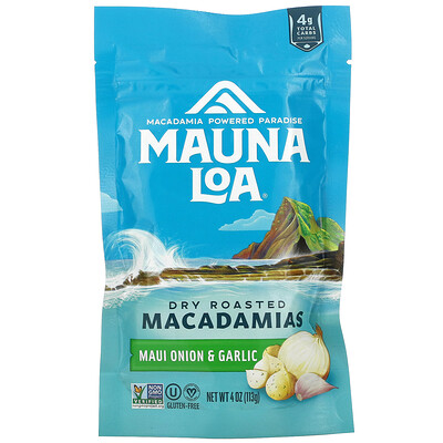 Купить Mauna Loa Dry Roasted Macadamias, Maui Onion & Garlic, 4 oz (113 g)