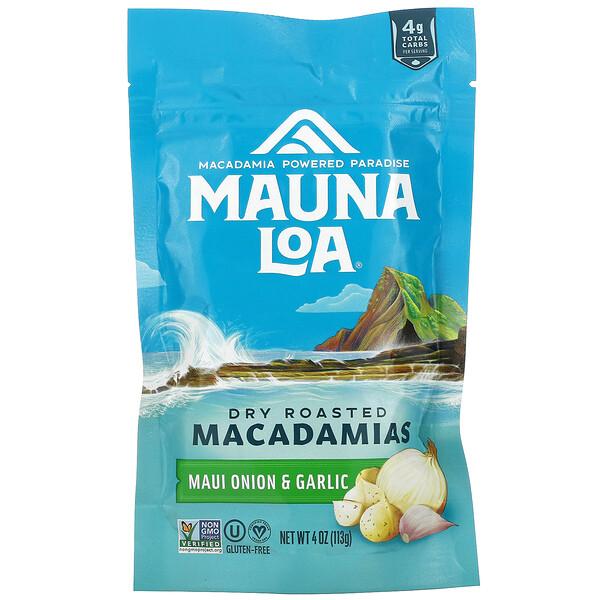 Dry Roasted Macadamias, Maui Onion & Garlic, 4 oz (113 g)