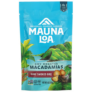 Mauna Loa, Dry Roasted Macadamias, Kiawe Smoked BBQ, 4 oz (113 g)