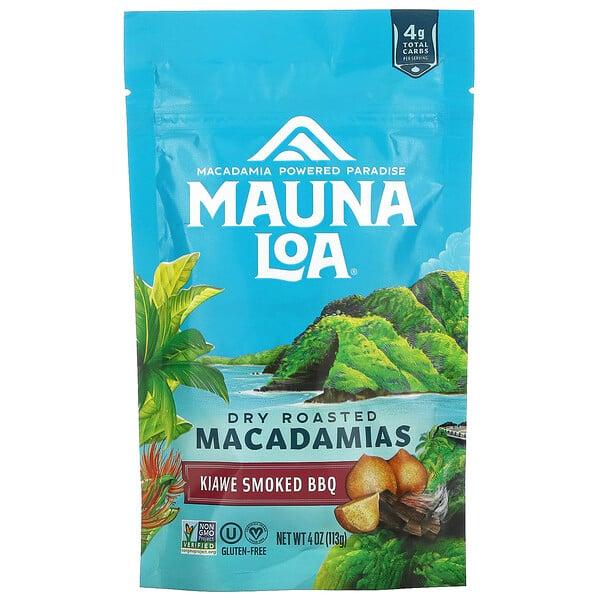 Dry Roasted Macadamias, Kiawe Smoked BBQ, 4 oz (113 g)