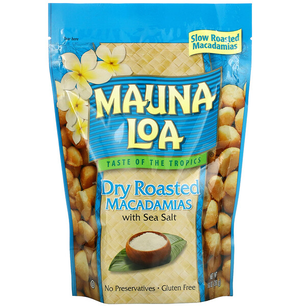 Dry Roasted Macadamias with Sea Salt, 10 oz (283 g)