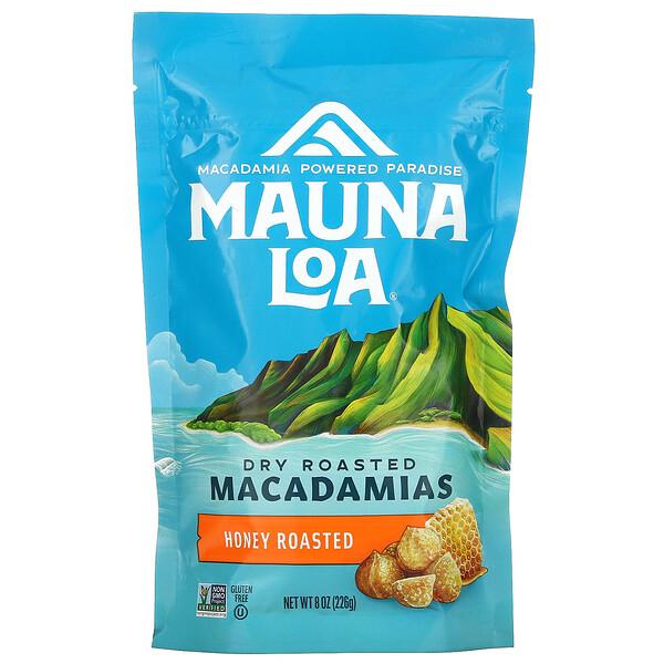 Dry Roasted Macadamias, Honey Roasted, 8 oz (226 g)