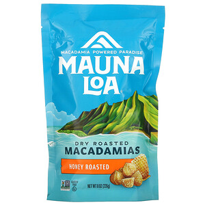 Mauna Loa, Dry Roasted Macadamias, Honey Roasted, 8 oz (226 g)