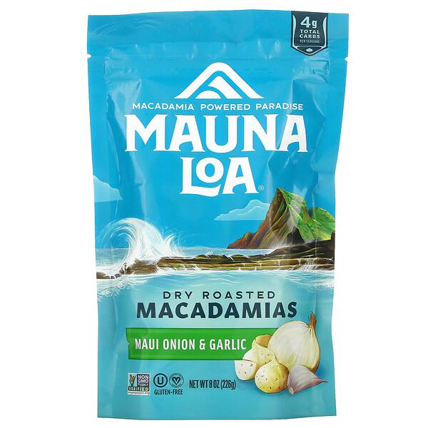 Dry Roasted Macadamias, Maui Onion & Garlic, 8 oz (226 g)