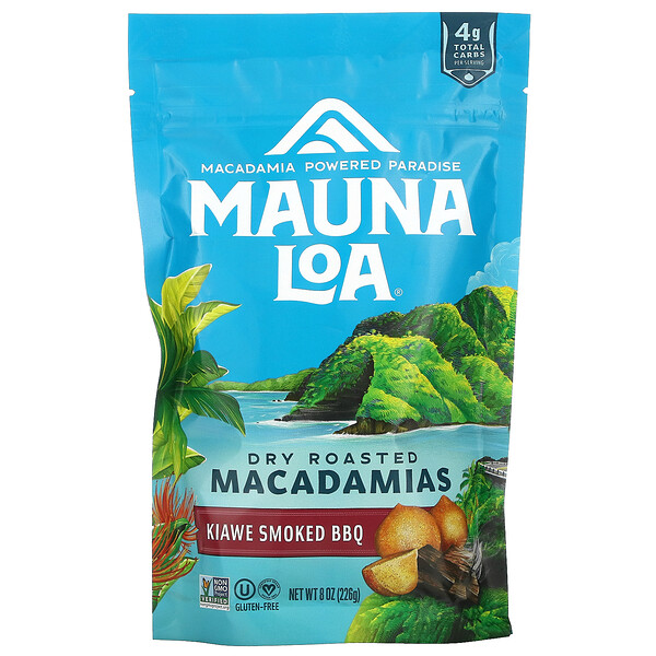 Mauna Loa, Dry Roasted Macadamias, Kiawe Smoked BBQ, 8 oz (226 g)
