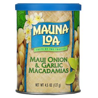 Mauna Loa, Maui Onion & Garlic Macadamias, 4.5 oz (127 g)