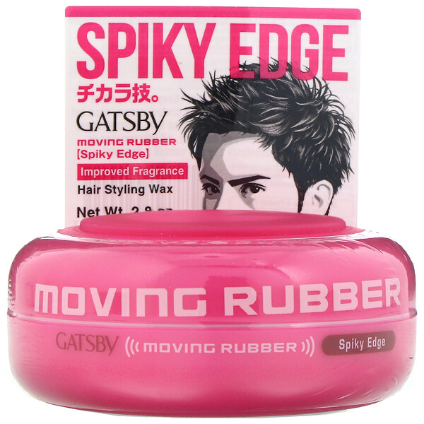 Gatsby, Moving Rubber Hair Styling Wax, Spiky Edge, 2.8 oz