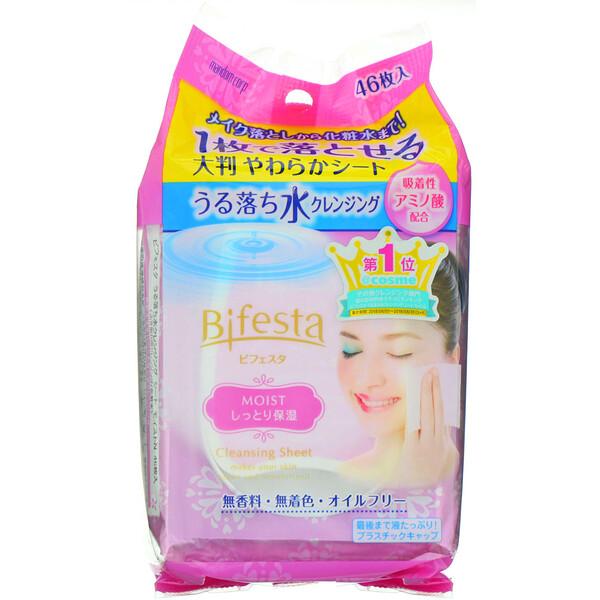 Bifesta, Cleansing Sheet, Moist, 46 Sheets