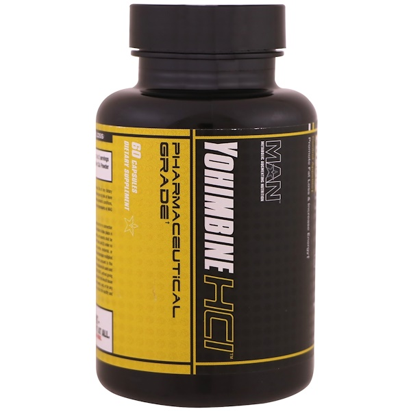 MAN Sports, Yohimbine HCl , 60 Cápsulas (Discontinued Item)