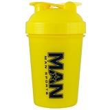Отзывы о MAN Sports, Маленький шейкер, желтый, 16 унций