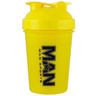 MAN Sports, Shorty Shaker, Yellow, 16 oz