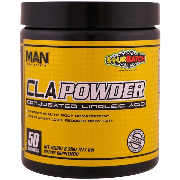 MAN Sports, CLA粉,共軛亞油酸,酸味,6、26盎司(177、5克)