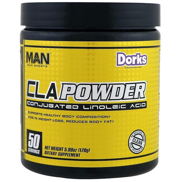 MAN Sports, CLA粉,共軛亞油酸,Dorks味,5、99盎司(170克)