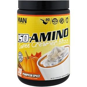 MAN Sports, ISO-Amino Coffee Creamer Bliss, Pumpkin Spice, 7.41 oz (210 g) отзывы
