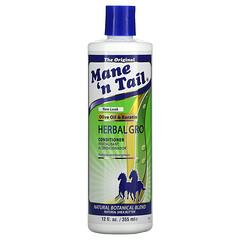 Mane 'n Tail, Herbal Gro 草本精華護髮素,12液量盎司(355毫升)