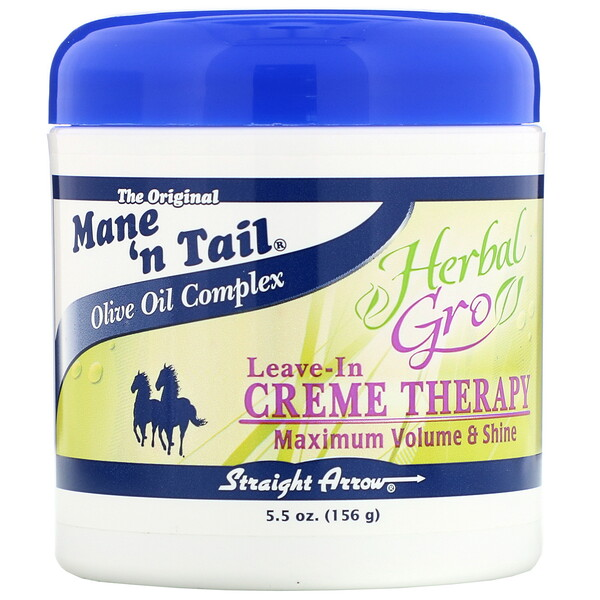 Mane 'n Tail, Herbal Gro, Terapia de Creme Leave-In, 5,5 oz (156 g)