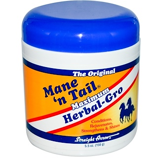 Mane 'n Tail, Maximum Herbal-Gro, 5,5 унций (156 г)