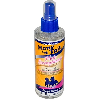 Mane 'n Tail, Hair Strengthener, Daily Leave-In Conditioning Treatment, 6 fl oz (178 ml)