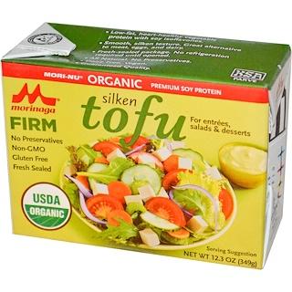 Mori-Nu, Органический шелковый тофу, Плотный тофу, 12,3 унции (349 г)