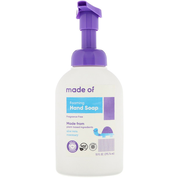 MADE OF, Foaming Hand Soap, Fragrance Free, 10 fl oz (295.74 ml) (Discontinued Item)