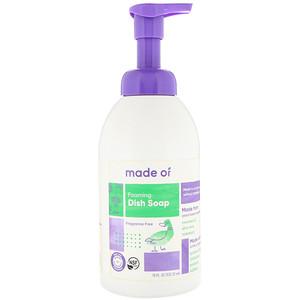MADE OF, Foaming Dish Soap, Fragrance Free, 18 fl oz (532.32 ml) отзывы