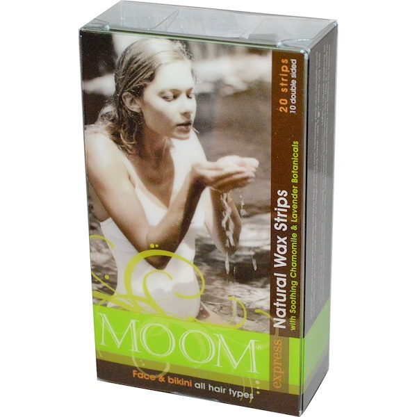 Moom, Natural Wax Strips, with Soothing Chamomile & Lavender Botanicals, 20 Strips (Discontinued Item)