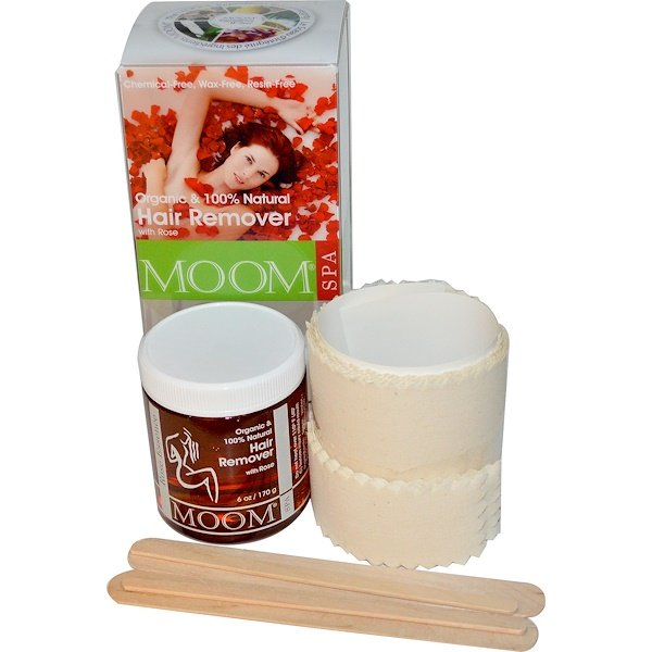 Moom, Organic Hair Remover, with Rose, Spa, 6 oz (170 g)