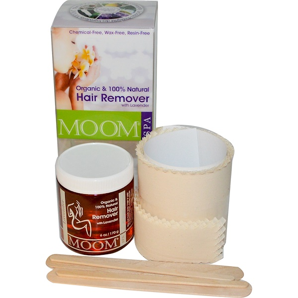 Moom, Organic Hair Remover Kit, With Lavender, Spa, 6 oz (170 g)