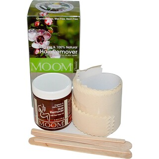 Moom, Removedor Orgánico de Vello, con Aceite de Árbol de Té, Clásico, 6 oz (170 g)