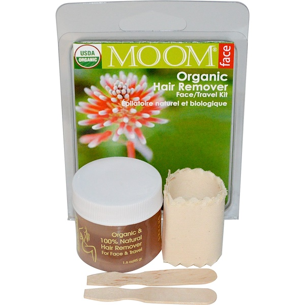 Moom, Organic Hair Remover Face/Travel Kit, 1 Kit