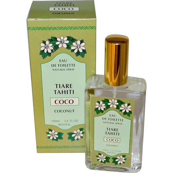 Monoi Tiare Tahiti, Eau de Toilette (Perfume) Spray, Coconut, 3.4 fl oz (100 ml) (Discontinued Item)