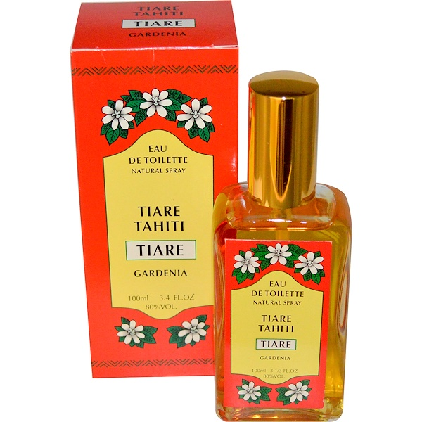 Monoi Tiare Tahiti, Eau de Toilette Natural Spray, Tiare Tahiti, Gardenia, 3.4 fl oz (100 ml) (Discontinued Item)