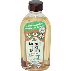 моной Тиаре Тахити, Suntan Oil, SPF 3 Protection Solaire, Coco Coconut, 4 fl oz (120 ml) отзывы