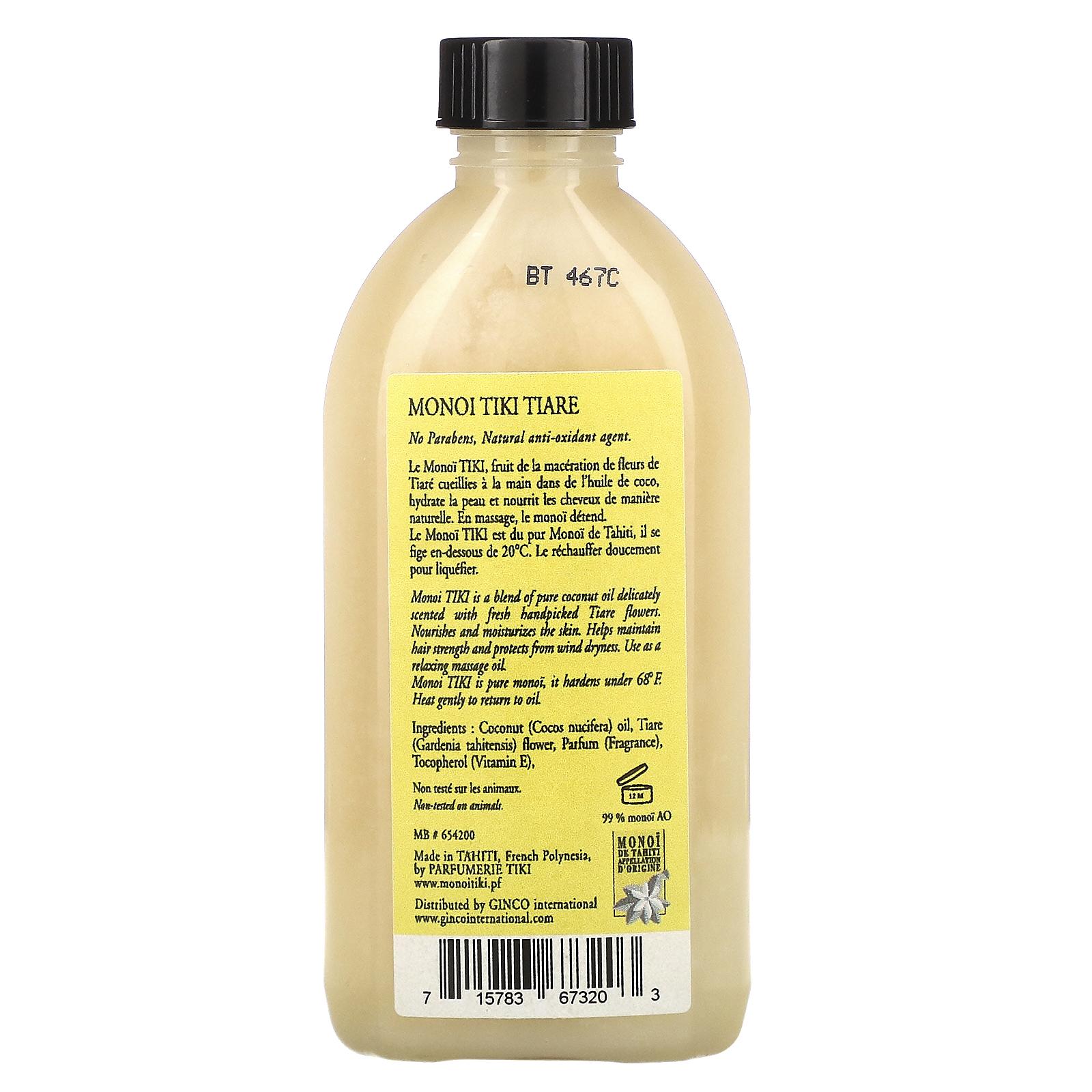 Monoi Tiare Tahiti, Coconut Oil, Tiare Gardenia, 8 fl oz 8 ml ...