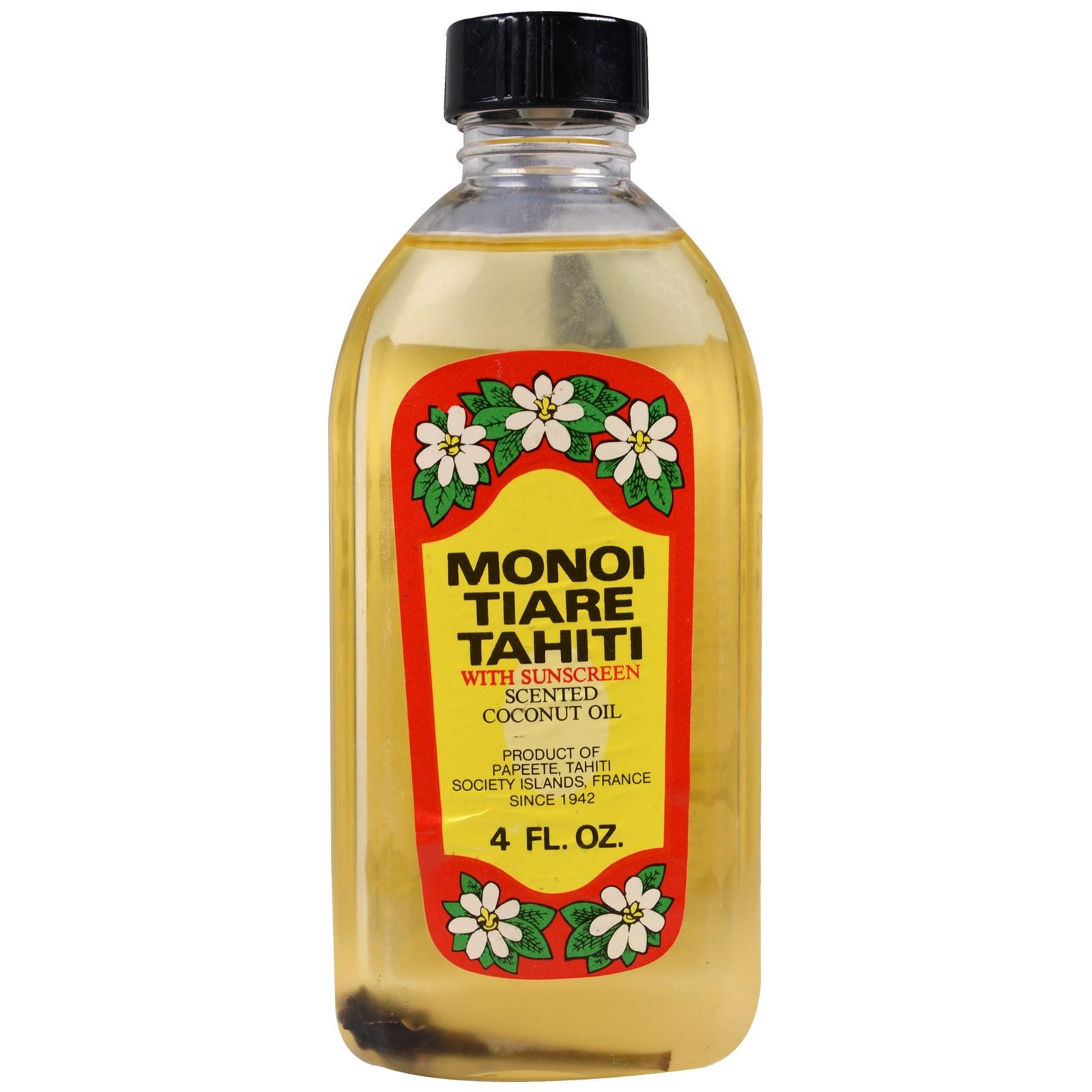 Monoi Tiare Tahiti, Масло для загара с солнцезащитным экраном, 120 мл (4 унции)