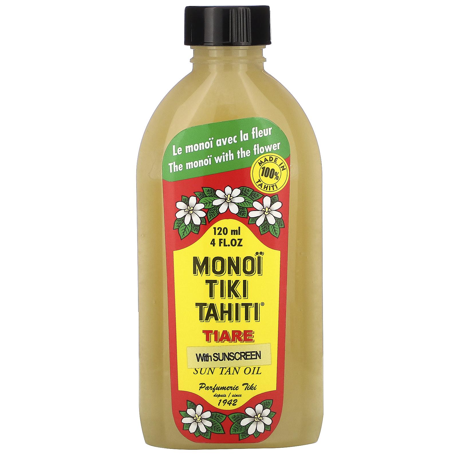 Monoi Tiare Tahiti, Sun Tan Oil With Sunscreen, SPF 8, 8 fl oz ...