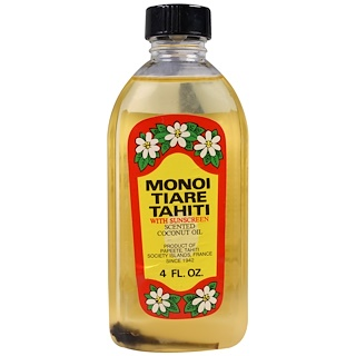 Monoi Tiare Tahiti, Sun Tan Oil With Sunscreen, 4 fl oz (120 ml)
