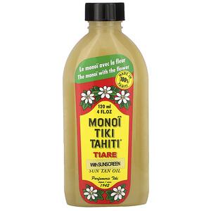 моной Тиаре Тахити, Sun Tan Oil With Sunscreen, SPF 3, 4 fl oz (120 ml) отзывы