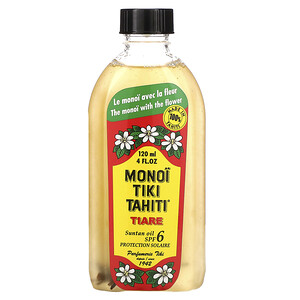 моной Тиаре Тахити, Suntan Oil SPF 6 Protection Solaire, Tiare (Gardenia), 4 fl oz (120 ml) отзывы покупателей