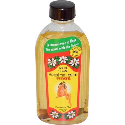 Monoi Tiare Tahiti 椰子油,茉莉花香型,4液體盎司(120毫升)