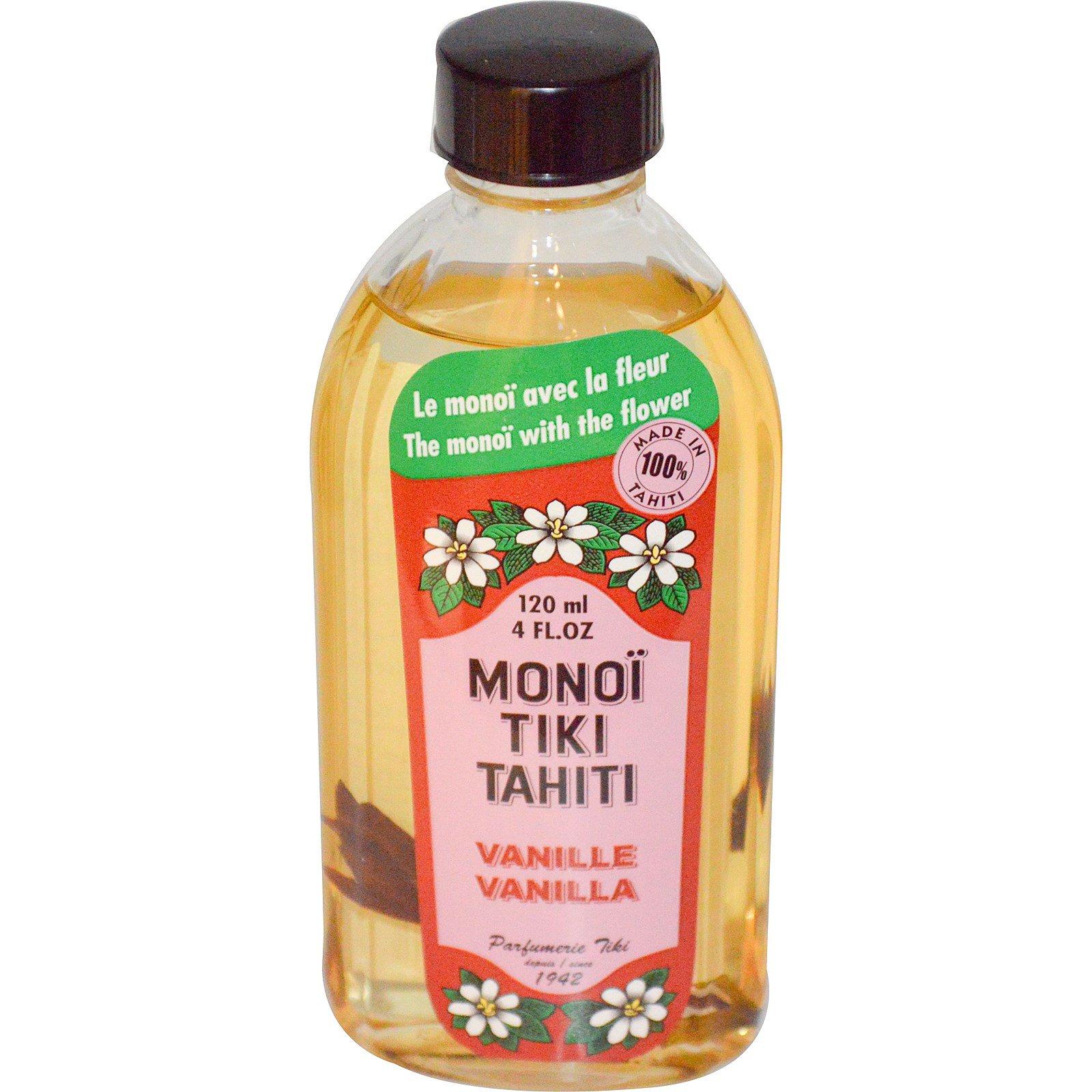 Monoi Tiare Tahiti, Ваниль 4 жидких унции (120 мл)