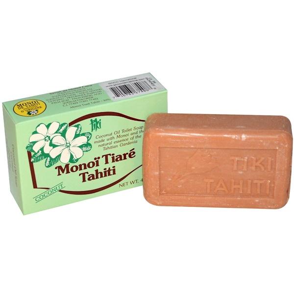 Monoi Tiare Tahiti, Coconut Oil Soap, Coconut Scented, 4.55 oz (130 g) (Discontinued Item)