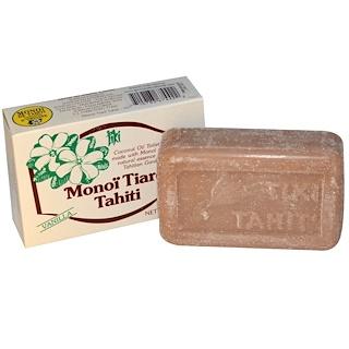 Monoi Tiare Tahiti, 코코넛 오일 솝, 바닐라 향, 4.55 온스 (130 g)