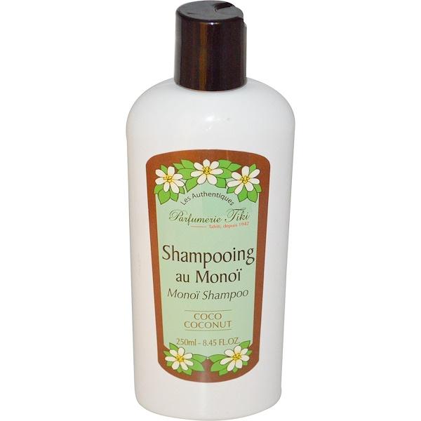 Monoi Tiare Tahiti, Parfumerie Tiki, Monoi Shampoo, Coco Coconut, 8.45 fl oz (250 ml) (Discontinued Item)