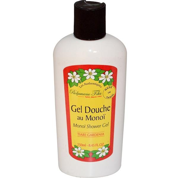 Monoi Tiare Tahiti, Parfumerie Tiki, Monoï  Shower Gel, Tiare Gardenia, 8.45 fl oz (250 ml) (Discontinued Item)
