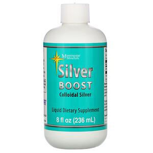 морнингстар минералс, Silver Boost, Colloidal Silver Liquid, 8 fl oz (236 ml) отзывы покупателей