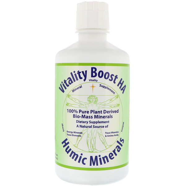 Morningstar Minerals, Vitality Boost HA, Humic Minerals, 32 fl oz (946 ml)